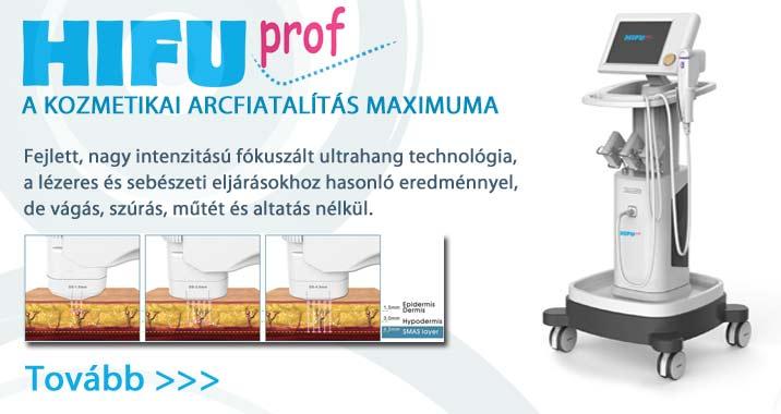 HIFU professzionális fókuszált ultrahangos arckezelőgép